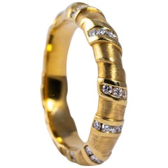 18 Karat Yellow Gold Whitney Boin Wrap Ring with Diamonds