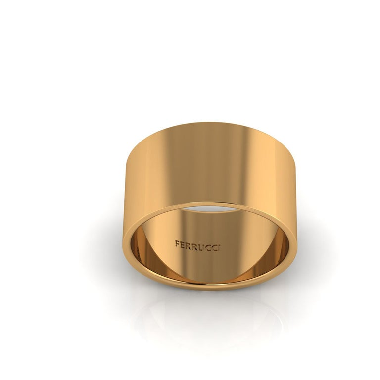 Solid 18k gold wide band ring, flat profile, stackable rings, comfortable fit, bold modern design, clean solid gold Wear single or multiple flat bands for different looks, discount available for multiple orders, bulk price available. Custom orders