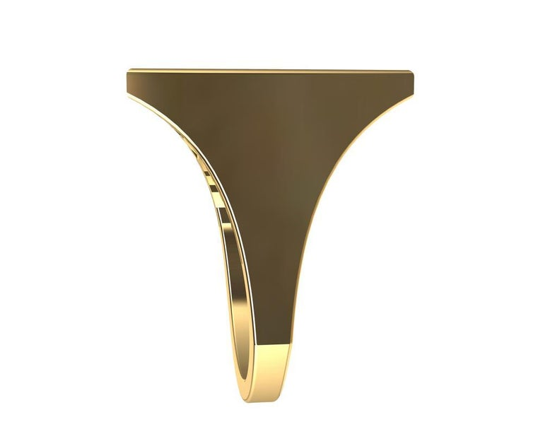 18 Karat Yellow Gold Women's Rectangle Rows Ring For Sale 6