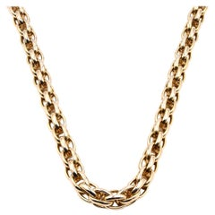 18 Karat Yellow Gold Woven Necklace