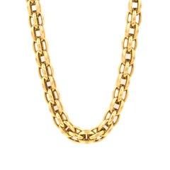 18 Karat Yellow Gold Woven Necklace