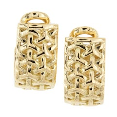 "18 Karat Yellow Gold ""Y Knot"" Earrings by Gemlok"