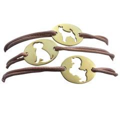 Youmna Fine Jewellery 18 Karat Yellow Gold Year of the Dog Cord Bracelet