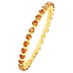 18 Karat Yellow Gold Yellow Sapphires Garavelli Ring