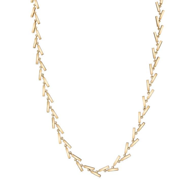 18-karat yellow gold long Fluid Line necklace
