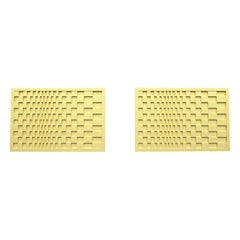 18 Karat Yellow Gold Optical Cuff links