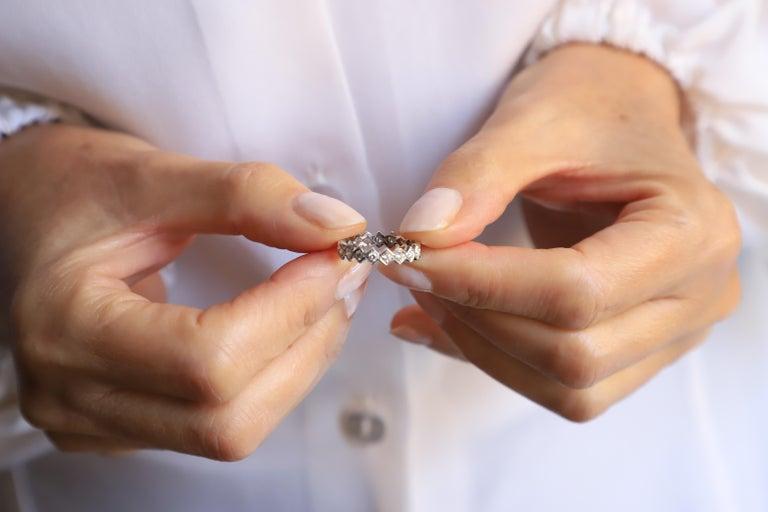 Women's Modern Ugolini 18 Karat White Gold 0.57 Karat White Diamonds