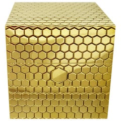 18 Karat Gold Cubic Box with Internal Cigarette Lighter