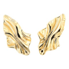 18 Kt Gold plated baroque collection earrings NWOT