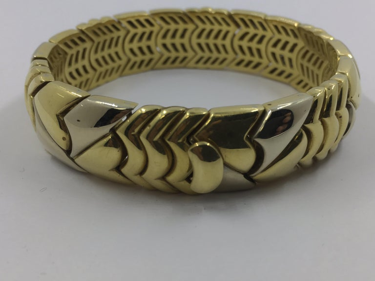 18 Kt White and Yellow Gold Bracelet made in Italy