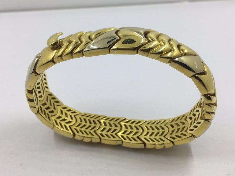 Women's 18 Karat White and Yellow Gold Bracelet For Sale