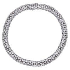 18 Karat White Gold Diamonds Tennis Bracelet