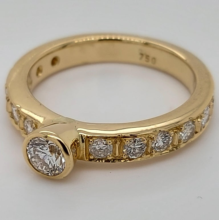 18 Karat Yellow Gold Detachable Diamond Ring and Engagement Ring For Sale 4