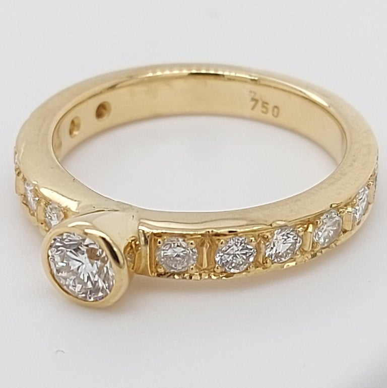 18 Karat Yellow Gold Detachable Diamond Ring and Engagement Ring For Sale 5