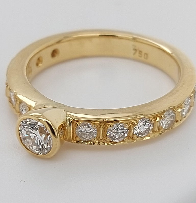 18 Karat Yellow Gold Detachable Diamond Ring and Engagement Ring For Sale 6