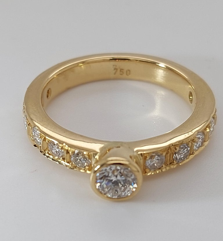 18 Karat Yellow Gold Detachable Diamond Ring and Engagement Ring For Sale 8
