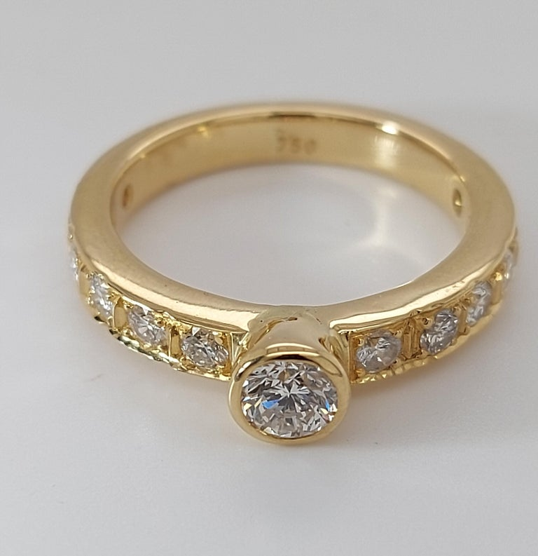 18 Karat Yellow Gold Detachable Diamond Ring and Engagement Ring For Sale 9