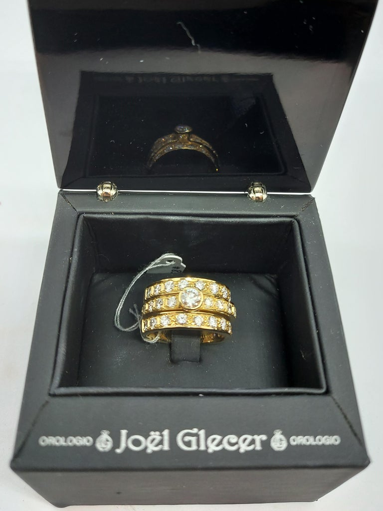 18 Karat Yellow Gold Detachable Diamond Ring and Engagement Ring For Sale 13