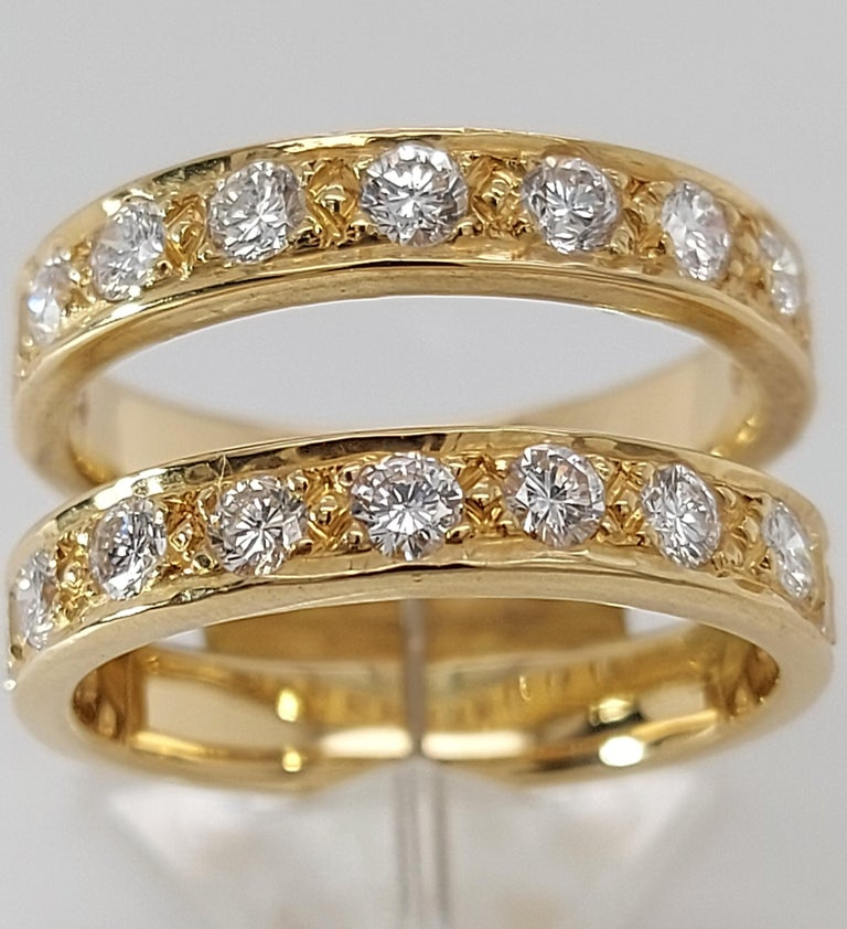 18 Karat Yellow Gold Detachable Diamond Ring and Engagement Ring For Sale 2