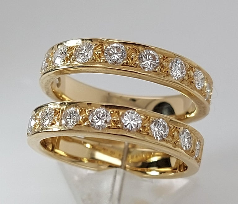 18 Karat Yellow Gold Detachable Diamond Ring and Engagement Ring For Sale 3