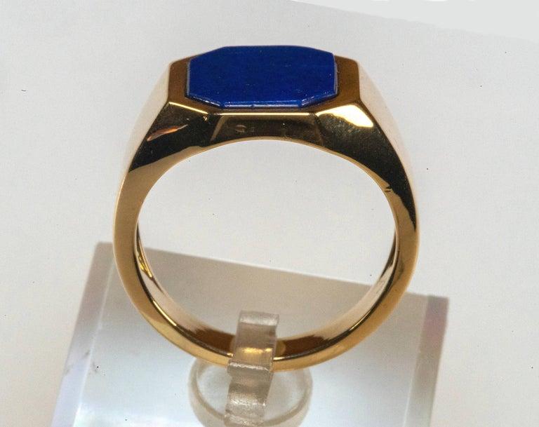 18 Karat Yellow Gold Lapis Lazuli Ring For Sale 1