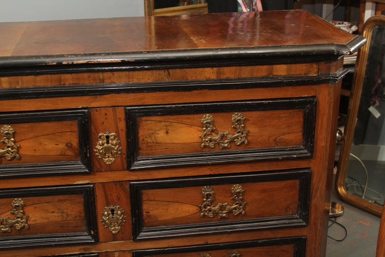 18th Century Dutch Chest with Silk Lined Drawers In Good Condition For Sale In Seattle, WA