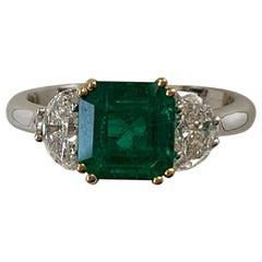 1.80 Carat Colombian Emerald and Diamond Ring