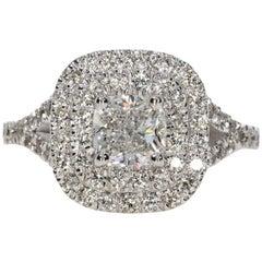 1.80 Carat Cushion Cut Diamond Engagement Ring