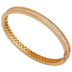 1.80 Carat Diamond 18 Karat Gold Bangle Bracelet