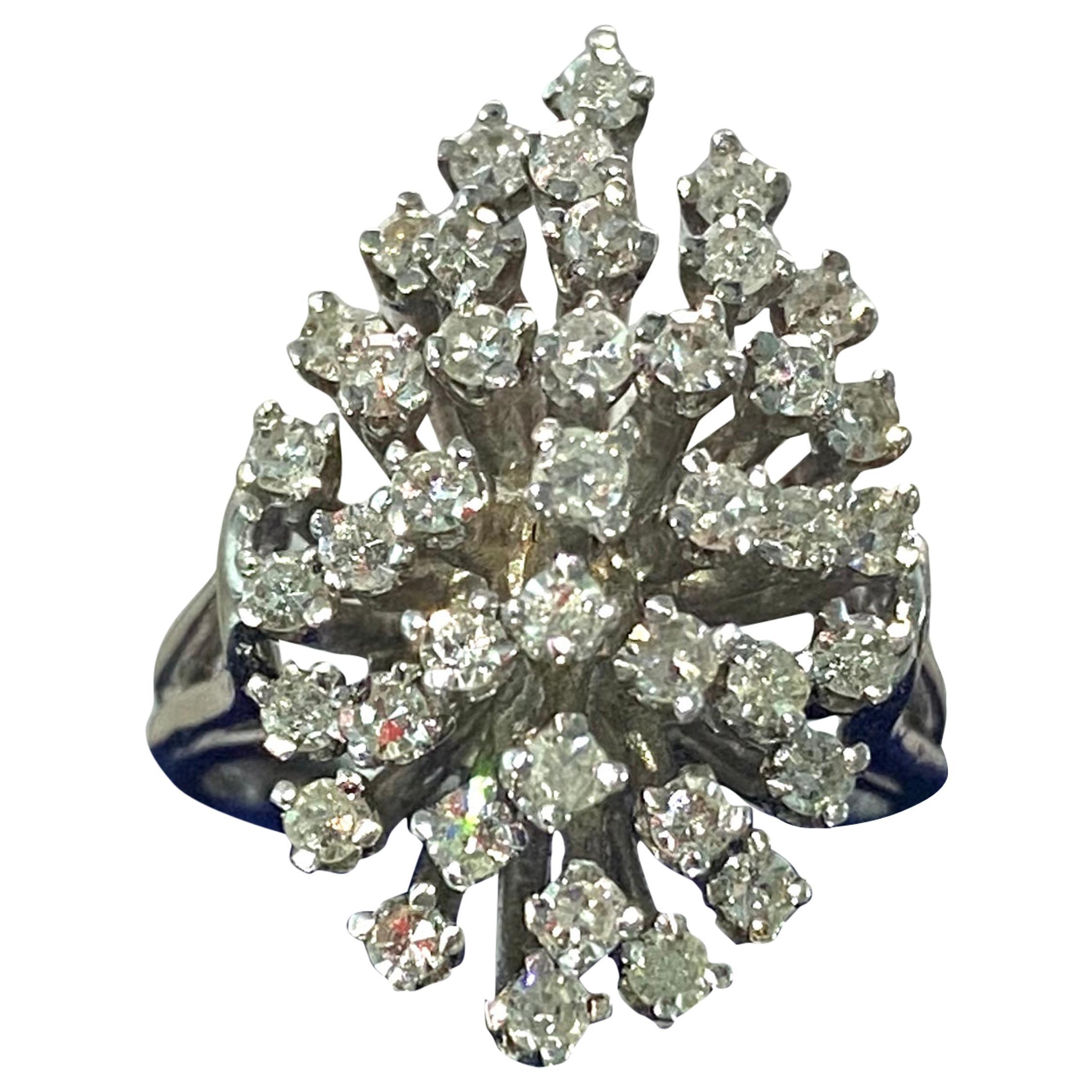 1.80 Carat Diamond White Gold Cocktail Ring