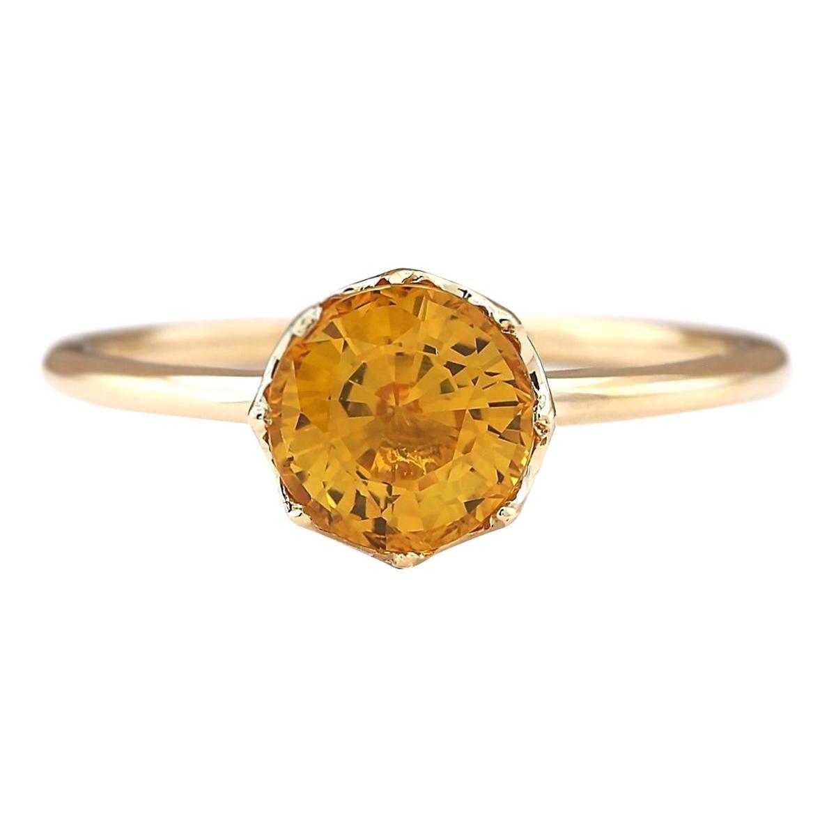1.80 Carat Natural Sapphire 18 Karat Yellow Gold Ring