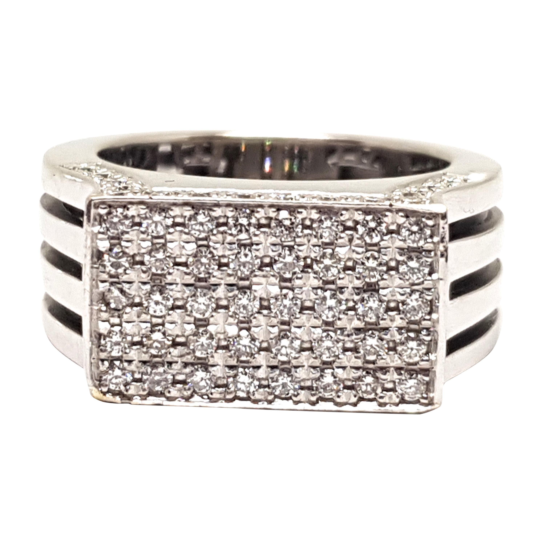1.80 Carat White Gold Diamond Cocktail Ring