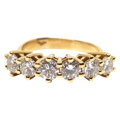 1.80 Carat Yellow Gold Diamond Memory Ring