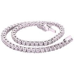 Berca 1.8 Karat Exceptional White Diamond White Gold Handcrafted Tennis Bracelet