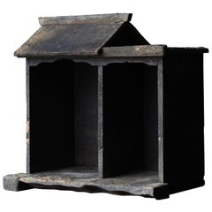 1800-1900 Zushi Japanese Buddha's House Black Old Folk Art Edo Period
