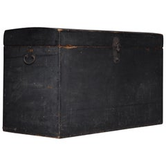 1800s-1900s HAKO Japanese Antique Black Box Wabisabi Storage Wabi-sabi