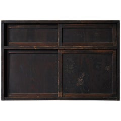1800s-1900s Japanese Black Tansu Antique Chest Furniture Cabinet Wabisabi