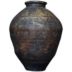 1800s-1900s SHIGARAKI Japanese Antique Tsubo Pottery Ceramic Jar Wabisabi