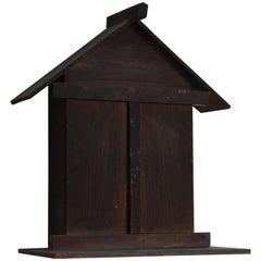1800s-1900s Zushi Japanese Buddha's House God Antique Wabisabi Wooden Object