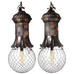 1800s Adams-Bagnall Street Lamps, Japanned Finish