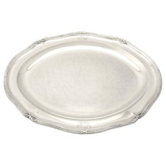 1800s Antique George III Sterling Silver Meat Platter