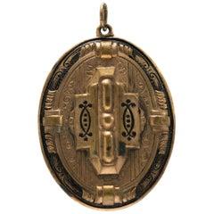 1800s Antique Victorian 10 Karat Yellow Gold Locket