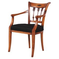 1800s Armchair, Ashwood, Netherland, Directoire, Biedermeier