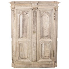 1800s Belgian Wooden Armoire