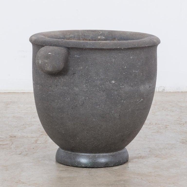 Belgian 1800s Black Stone Mortar For Sale