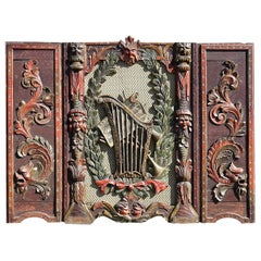 1800s Carrousel or Band Organ Carved Front Panel