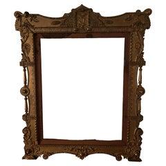 1800s Edward Klauber Wood and Ormolu Ornate Picture Frame