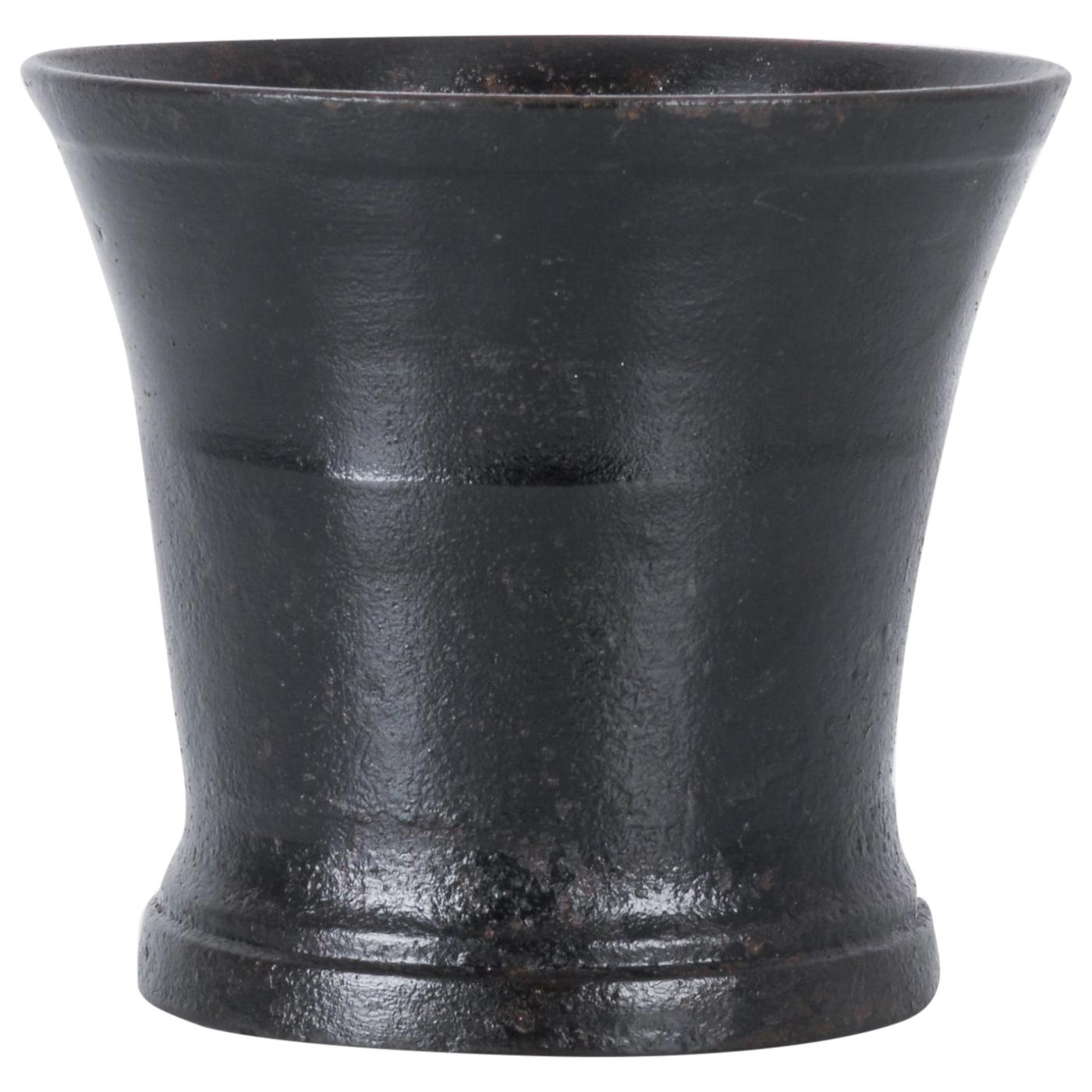 1800s French Cast Iron Mortar