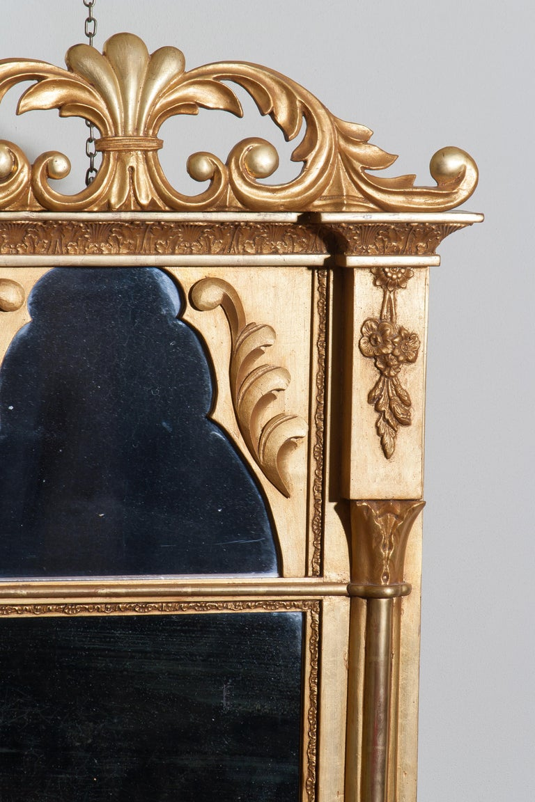 1800s Gilded France Empire Mirror For Sale At 1stdibs