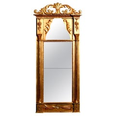 1800s Gilded France Empire Mirror